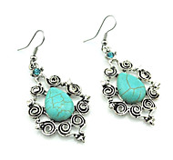 Women's Drop Earrings Imitation Diamond Turquoise Alloy Jewelry For Party Daily