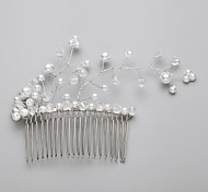 Women's/Flower Girl's Crystal/Alloy/Imitation Pearl Headpiece - Wedding/Special Occasion/Outdoor Hair Combs/Flowers