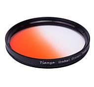 TIANYA 55mm Circular Graduated Orange Filter for Sony 18-55 55-200 Lens