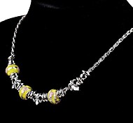 Fashion Handmade Ball Necklaces Random Color