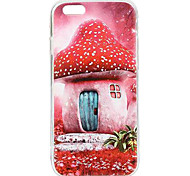 Cartoon Mushroom Cabin TPU Soft Case for iPhone 6