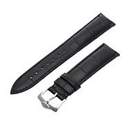 20mm Unisex Genuine Leather Watch Band Strap Bracelet Black Fashion