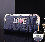 Personalized Gift Women's Faux Leather Metal Purse (within 10 characters)