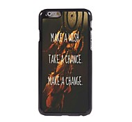 Wish Chance and Change Design Aluminum Case for iPhone 6 Plus