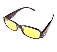 [Free Lenses] Night vision With Lamp Plastic Rectangle Full-Rim Classic Reading Eyeglasses