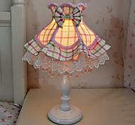 40W LED Floral Pink-Yellow Green Lattice Lace Princess LED Small Table Lamp 220V