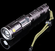 HanGuang YLD118 Rechargeable 3-Mode 1x Cree T6 Zoom LED Flashlight(800LM, 1x18650, Black)
