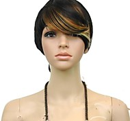 Top Quality Colorful Short Straight Woman'Fashion Synthetic Hair Wigs