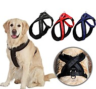 Red/Black/Blue Retractable Nylon Harnesses For Dogs