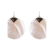 Round Shell Drop Earrings