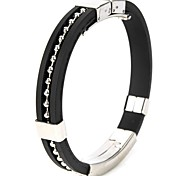 Stainless Steel Anion Pressure Reduction Magnetic Bracelet Bangle(Black)