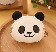 Panda Pattern Silicone Change Purse