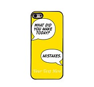 Personalized Phone Case - Make Mistake Design Metal Case for iPhone 5/5S
