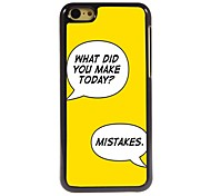 Make Mistakes Design  Aluminum Case for iPhone 5C