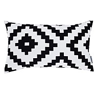 "Modern 12x20"" Rec Geometric Pillow Cover/Pillow With Insert"