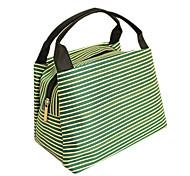 Green Cross Stripe Cosmetic Bag