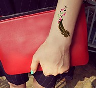 Número impermeable 1pc serie multicolor arabia verde fluorescente golondrina de oro pegatina tatuaje patrón