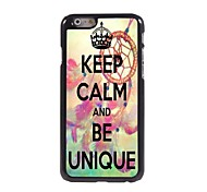 Keep Calm and Be Unique Design Aluminum Case for iPhone 6 Plus