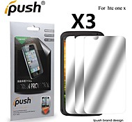 High Transparency Mirror LCD Screen Protector for HTC One X (3 Pieces)