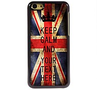 Personalized Case UK Flag Keep Calm Design Metal Case for iPhone 5C