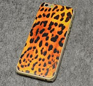 Leopard Print Style Painted Relief Plastic Hard Back Cover for iPhone 6