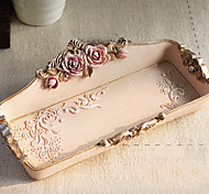Makeup Storage Cosmetic Box / Makeup Storage Flower/Floral / Solid 18*9.5*3 Pink