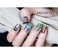 14PCS Fashion Glitter Powder Nail Art Stickers MD Series NO.1051S