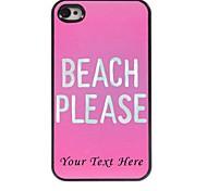 personalisierte-Tasche - Strand bitte entwerfen Metallkasten für iphone 4 / 4s