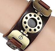 Bracelet Bracelets de rive Bracelets de tennis Bracelets d'amitié Bracelets Bracelets Vintage Bracelets en cuir Alliage Cuir CuivreSoirée