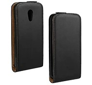 COCO FUN® Ultra Solid Genuine Flip Leather Case with Film and USB Cable and Stylus for Motorola Moto G2