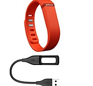 Large size Replacement rubber fitbit flex band activity bracelet wristband with Charging Cable