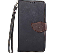 Exquisite Leaf Design PU Leather Case Cover with Stand and Card Slot for Motorola MOTO X (Assorted Color)