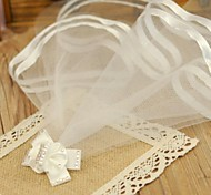 Dog Hair Accessories - S / L - Spring/Fall - White / Pink - Wedding - Nylon