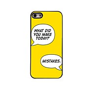 Make Mistakes Design  Aluminum Case for iPhone 5/5S