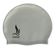 Sanqi Unisex Fashional Classic Waterproof Ear Protection Swimming Cap