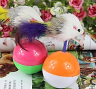 Cat Toy Pet Toys Interactive Mouse Toy Bell Plastic