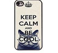 Keep Calm and Be Cool Design  Aluminum Case for iPhone 4/4S