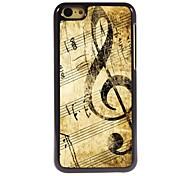 Retro-Design Musik-Muster Aluminium-Hülle für das iPhone 5c