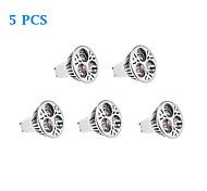 Lâmpada de Foco GU10 4 W 220 LM 3500/5000 K Branco Quente/Branco Natural 3 LED de Alta Potência 5 pçs AC 220-240 V