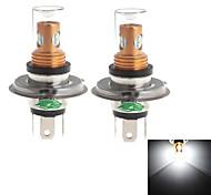 Zweihnder H4 10W 900lm 6000~6500K 8x2323 SMD LED White Light Bulb for Car Foglight (12-24V,2 Pieces)