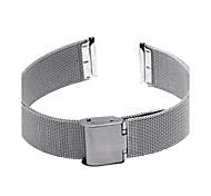 18 mm reloj de acero hebilla de correa de distribución banda de plata durable