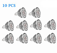 10Pcs MR16(GU5.3) 4.5W 270LM 3500K/6000K Warm White Cool White Light LED Spot Bulb (12V)
