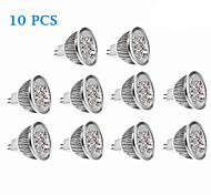 Focos GU5.3 4.5 W 4 LED de Alta Potencia 270 LM 3500/6000 K Blanco Cálido/Blanco Fresco DC 12 V 10 piezas