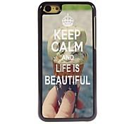 Ruhe bewahren und das Leben ist schönes Design Aluminiumkasten für iphone 5c