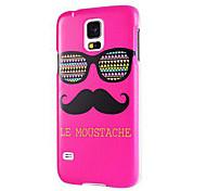 Rose Le Moustache & Glasses Hartplastik Tasche für Samsung Galaxy i9600 S5