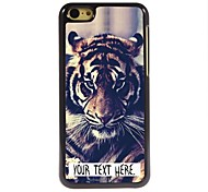 Personalized Case Tiger Design Metal Case for iPhone 5C