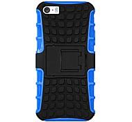 pneumatico modello PC + TPU 2 in 1 disegno shockproof caso della copertura posteriore per iPhone 5 / 5s (colori assortiti)