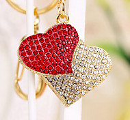 Amotaios AMO-UF122(8G) 8GB USB 2.0 Flash Pen Drive Keychain/Heart/Crystal