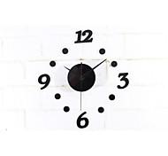 DIY Figure Acrylic Round Wall Clock Fun Clock Black Red Colors