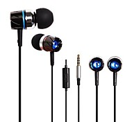 BEBONCOOL™  Metal Stereo Headset  with Mic and Volume Control for Iphone/HTC/Samsung/Huawei , Headphone